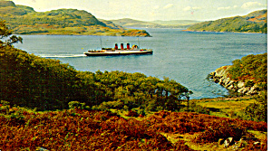 Passenger Ship in The Kyles of Bute Scotland cs5721 (Image1)