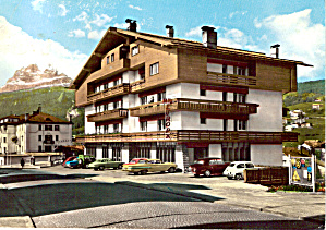 Hotel Europa Cortina Italy 1959 Chevy in View cs5748 (Image1)
