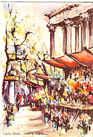Flower Vendors Artwork Postcard cs5753 (Image1)