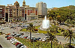 Malaga Spain Place Queipo de Llano Fountain and Gardens cs5802 (Image1)