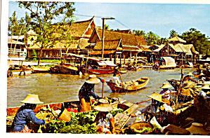 Wat Sai Floating Market, Bangkok, Thailand (Image1)