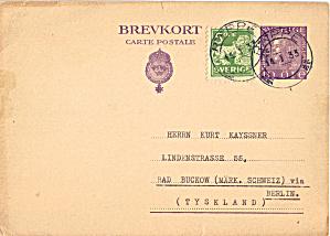 Swedish Post Office Postcard Example cs5831 (Image1)