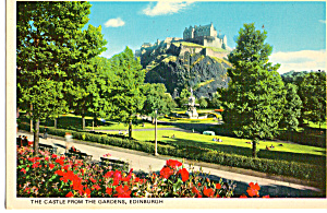 Edinburgh Castle From The Gardens Scotland cs5845 (Image1)