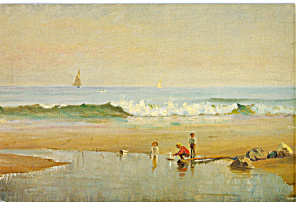 Maine Coastal Scene By William Partridge Burpee Postcard Cs5853