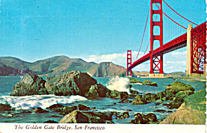 Golden Gate Bridge Ca Postcard Cs5862