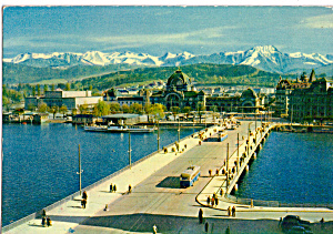 Lucerne Lake Bridge Station And Mountains Cs5868
