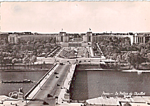 Chaillot Palace Paris France Postcard Cs5875
