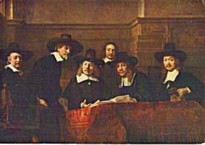 The syndics of the Cloth Hall Rembrandt Postcard cs5891 (Image1)