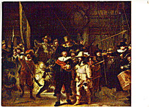 The NIght Watch Rembrandt Color Postcard cs5894 (Image1)