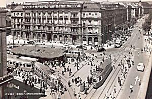 Zurich Switzerland Paradeplatz Trolleys in Street cs5910 (Image1)