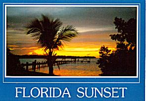 Florida Sunset Postcard cs5925 (Image1)
