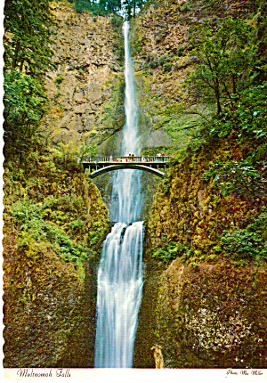 Multnomah Falls Oregon Postcard cs6013 (Image1)