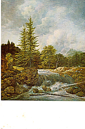 Landscape with Waterfall Postcard cs6016 (Image1)