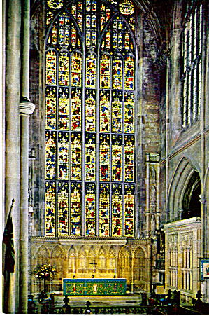 Bath Abbey, Altar and Great East Window England cs6024 (Image1)