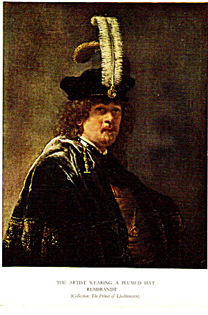 The Artist Wearing a Plumed Hat Postcard cs6026 (Image1)