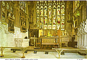 Holy Trinity Church High Altar Stratford Upon Avon England Cs6058