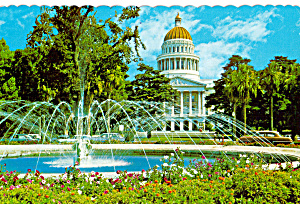 State Capitol and Fountain, Sacramento, California (Image1)