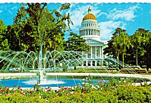 State Capitol and Fountain Sacramento California cs6090 (Image1)