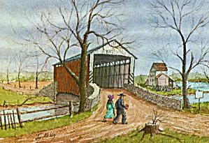 Covered Bridge by Jay McVey Postcard cs6113 (Image1)