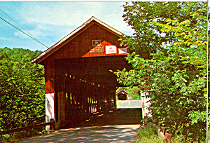 Old Covered Bridges Northfield Vermont Postcard Cs6125
