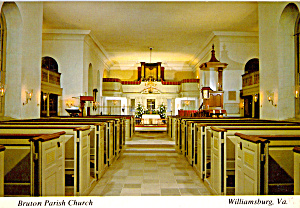 Interior Bruton Parish Church, Williamsburg (Image1)