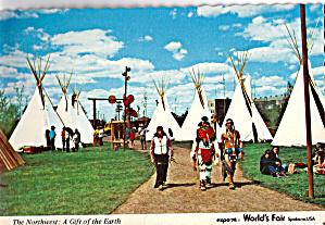Native American's Earth Expo 74 Postcard cs6169 (Image1)