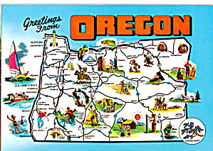 State Map of Oregon cs6189 (Image1)