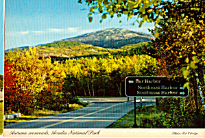 Autumn Crossroads, Acadia National Park (Image1)