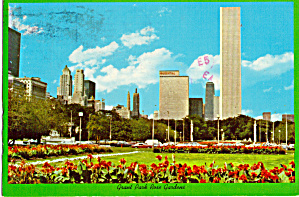 Standard Oil Building From Grant Park Rose Gardens Chicago Il Cs6203