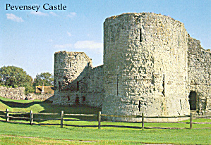 Pevensey Castle East Suffix England Postcard cs6217 (Image1)