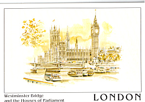 Westminster Bridge And Houses Of Parliment.