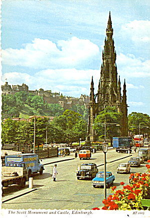 The Scott Monument And Castle, Edinburgh