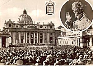 Rome Piazza S Pietro Benedizone Papale cs6255 (Image1)