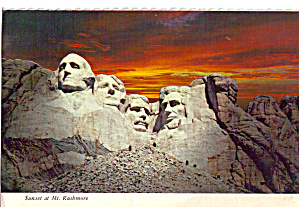 Sunset At Mt Rushmore National Monument Sd Cs6326
