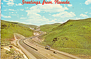 Emigrant Pass Interstate 80 Elko Nevada Postcard Cs6327