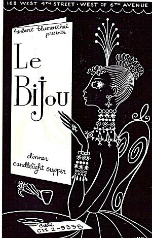 Le Bijou Dinner Candlelight Supper New York City cs6350 (Image1)