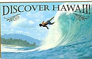 Surfer in Hawaii Postcard cs6377 (Image1)
