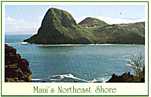 Maui Hawaii Northeast Shoreline Postcard cs6408 (Image1)