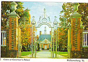 Gates Of Governor S Palace Williamsburg Virginia Cs6409