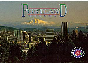 Mt Hood and Skyline of Portland Oregon cs6464 (Image1)
