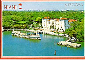 Villa Vizcava Miami Dade County Postcard cs6508 (Image1)