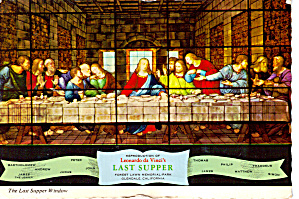 The Last Supper Window Forest Lawn California cs6592 (Image1)