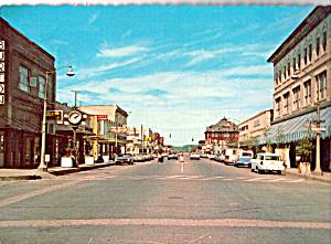 Street Scene in Anacortes,WA Cars 1950s (Image1)