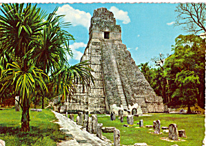 Giant Jaguar Temple Tikal Peten Guatemala cs6617 (Image1)