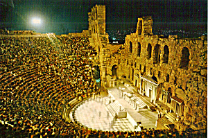 Athens Greece, The Odeon of Herode Atticus (Image1)