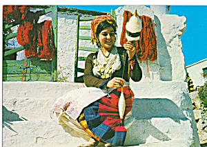 Woman in Native Cretan Dress cs6639 (Image1)
