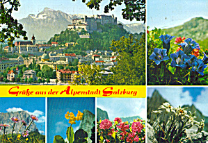 Multiview card of Salzburg, Austria (Image1)