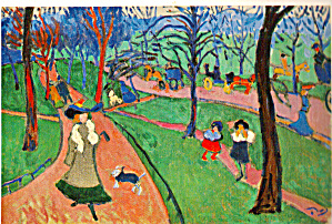 Hyde Park 1906 by Andre Derain Postcard cs6686 (Image1)