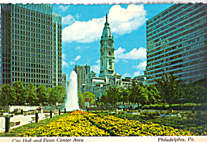 City Hall And Penn Center Area Philadelphia Pa Cs6763