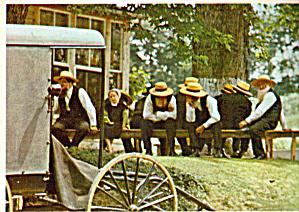 Amish Men at a Sunday Meeting Postcard (Image1)